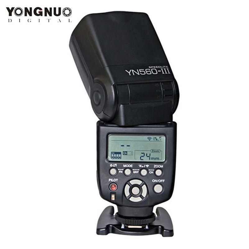 Nouveau Yongnuo YN560 III YN 560III Flash sans fil Speedlite avec écran LCD YN 560II Flash de mise à niveau pour appareil photo Nikon Canon Pentax-in Clignote from Electronique    1