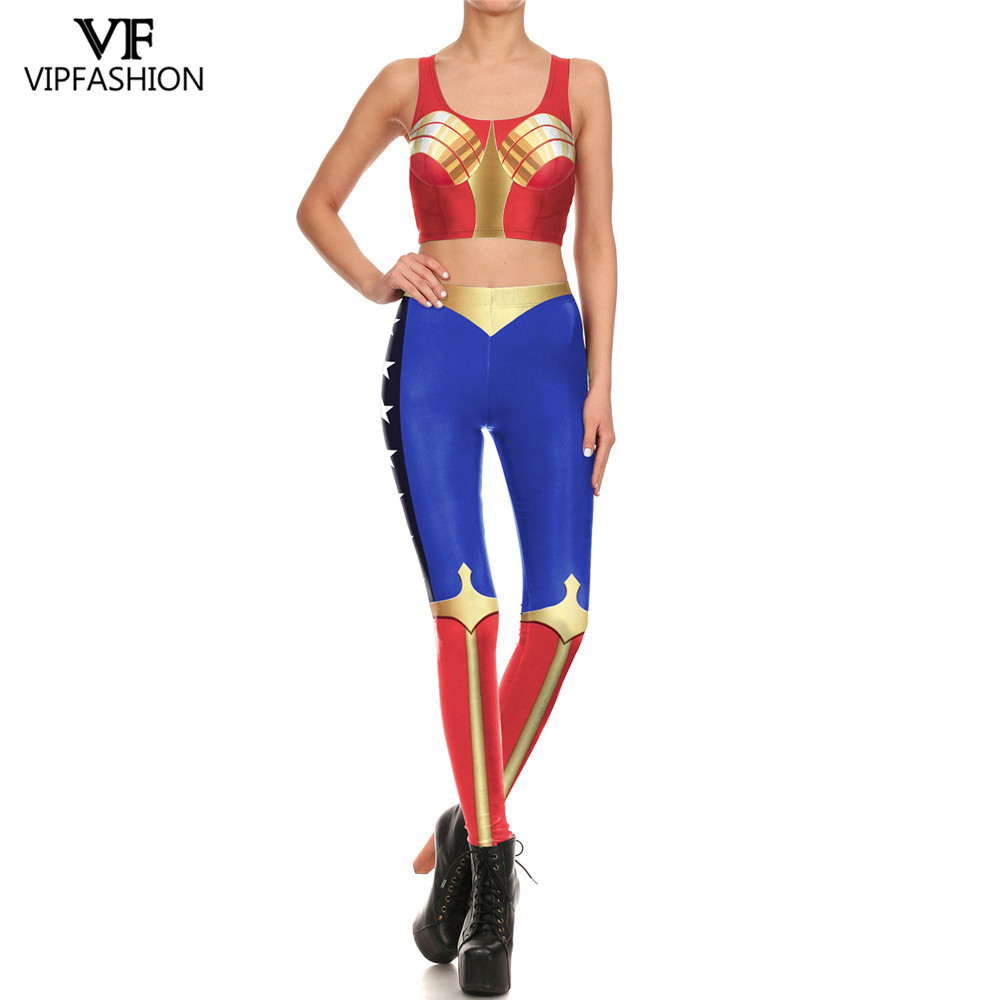 VIP FASHION 2019 Latest Style Women Workout Fitness Pants For Ladies Sexy Women Leggings 3D Printed DC Super Hero Suits