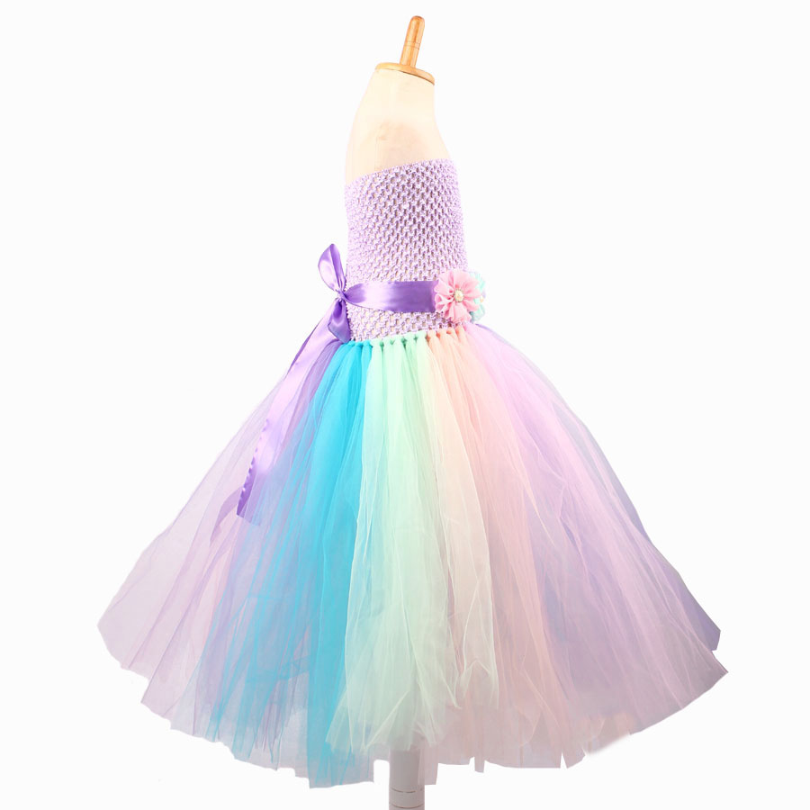 Baby Girl Flower Pony Unicorn Tutu Dress Extra Fluffy Kids Fairy Wedding Birthday Party Dresses with Hair Hoop for Cosplay (4)