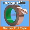 Single Face Adhesive Electric Conduction Copper Foil Tape EMI Shielding Guitar Slug and Snail Barrier 30M *0.06