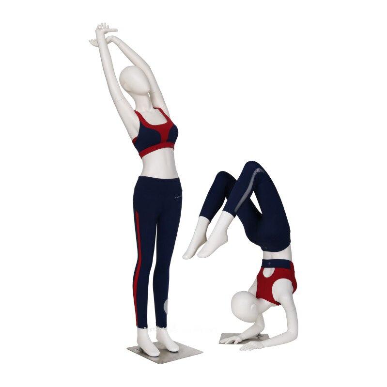 Le Style de mode personnalisent l'exercice de Mannequin de Yoga de Sport étirant la vente directe d'usine de Mannequin
