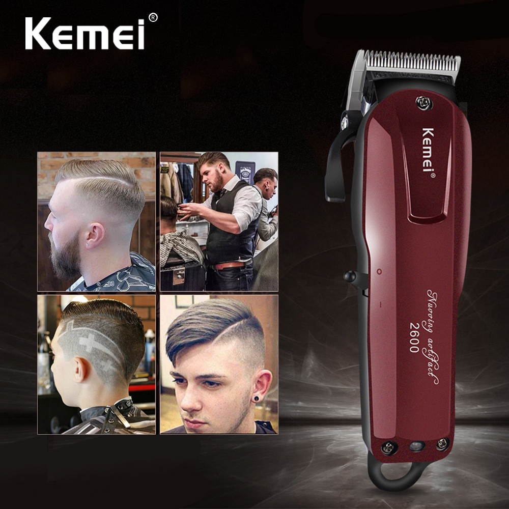 KEMEI Professional Electric Hair Trimmer Beard Shaver Rechargeable Hair Clipper Titanium Knife Hair Cutting Machine KM-2600 цена