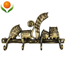 "Free shipping Cartoon""Coat rack hook ""cat""wedding decoration metal hook hanger Originality crafts . russian gift Souvenirs(China)"