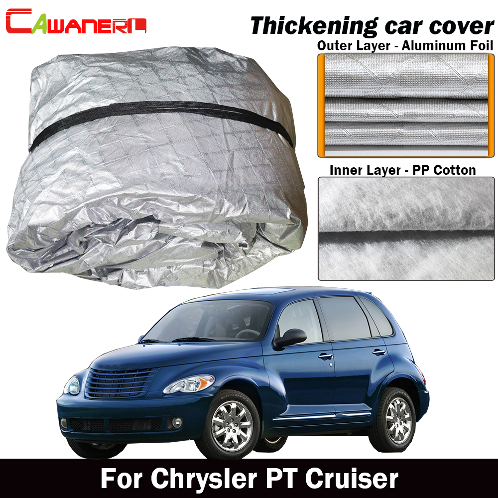 Waterproof Car Cover >> Us 81 61 47 Off Cawanerl Waterproof Car Cover Thick Cotton Sun Shield Rain Snow Hail Protection Cover Dust Proof For Chrysler Pt Cruiser In Car