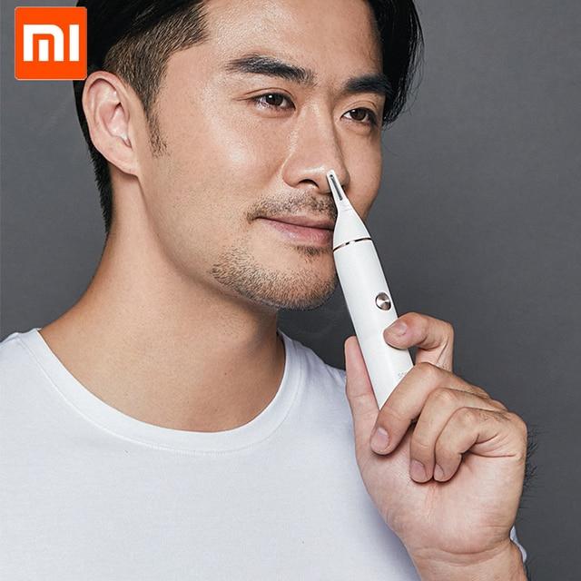 Original Xiaomi Mijia Soocas IPX5 waterproof Nose Hair Trimmer Eyebrow Clipper Sharp Blade Cordless Nasal Cleaner for Men women