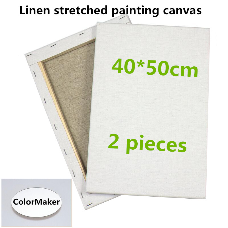 40x50cm White blank canvas stretched canvas with wood frame-in ...