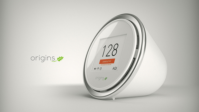 Smart Air Quality Monitor, Laser Egg, highly sensitive, mobile app, Palm-Sized Solution Monitoring