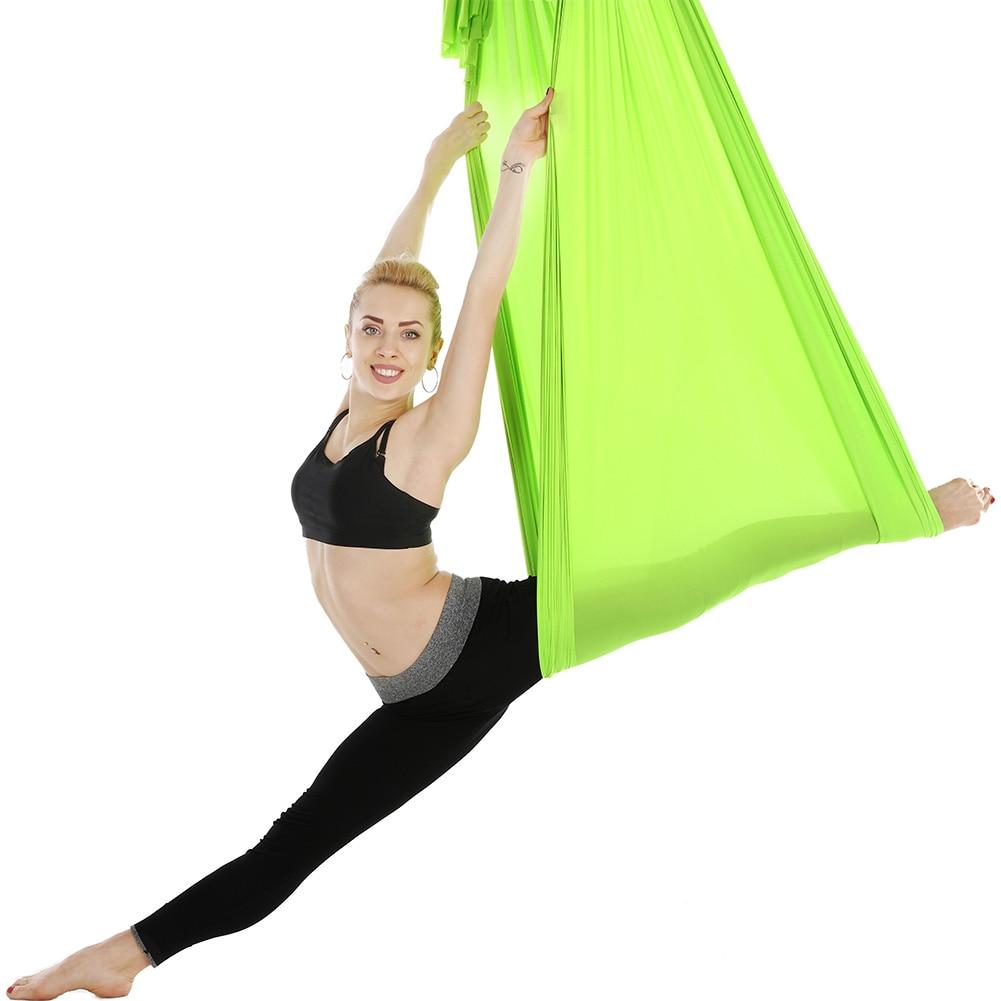Elastic 6 2 8m Anti Gravity Aerial Yoga Hammock Swing Pilates Yoga Belt for GYM Home