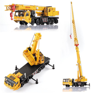 Image 5 - 1:55 Mega Lifter Alloy Diecast Model with 4 Front Wheel Steering Linkage 360 Degree Rotate Work Platform Crane Children Gifts