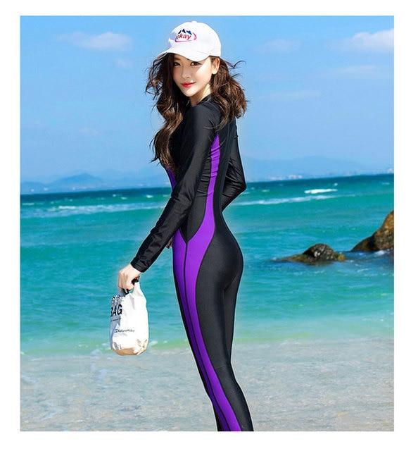 fa51464450da7 Women Fashion Lycra Fabric Wetsuits One-piece Scuba Diving Swimsuit Plus  Size Surfing Womens surf
