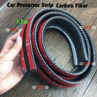 1.5M Carbon Fiber High Strength Wheel Eyebrow Arch Decor Strip Car Tires Eyebrow For Round Rubber Car Protect Sticke