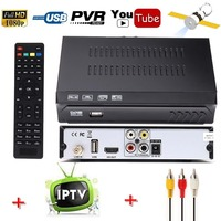 FOB DVB S2 HD Digital Satellite Receiver IPTV Combo USB Wifi Antenna Free To Air Support