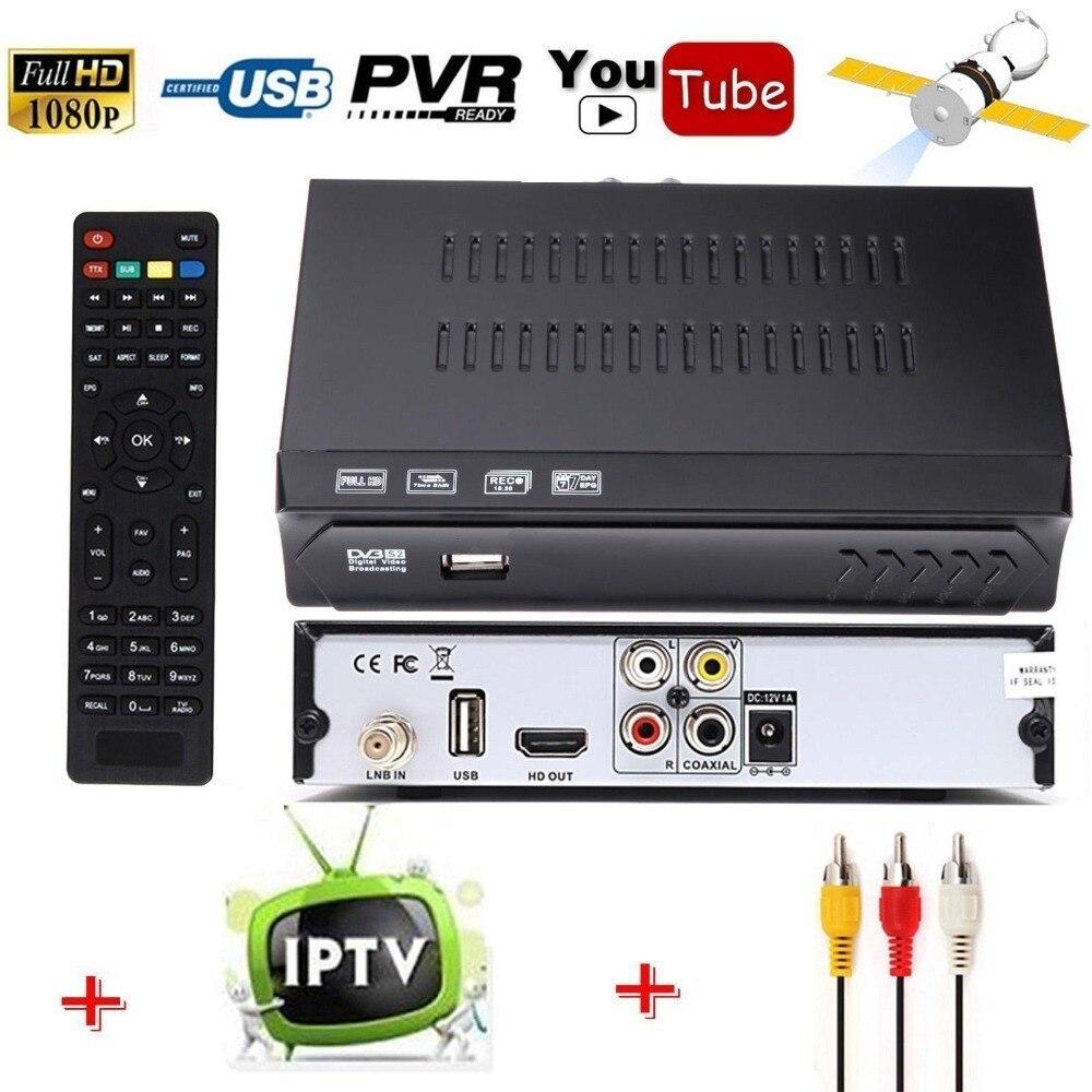 Livraison À Air DVB-S2 HD Numérique Récepteur Satellite IPTV Combo Soutien HD AC3 USB Wifi Antenne Youtube IKS Cccam Newcam vu Biss clé