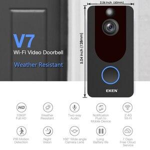 Image 2 - EKEN V7 HD 1080P akıllı WiFi Video kapı zili kamera görsel interkom gece görüş IP kapı zili kablosuz güvenlik kamera