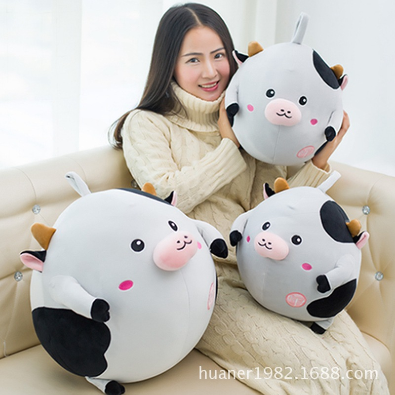 Cows plush toy doll soft pillow gift girls super soft cushion high quality Animal cow doll mymei pokemon pokeball go ultra soft pillow decor pillow soft plush doll