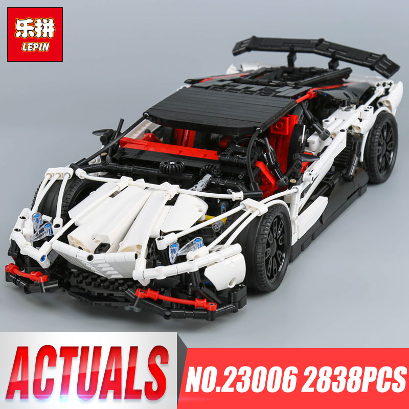 Lepin 23006 Genuine MOC Technic Series The Super Racing Car Set MOC-3918 Building Blocks Bricks LEGOing Toys as Kids Gifts lepin 23013 genuine technic series the remote control off road car set 2314pcs building kits blocks bricks legoing gifts