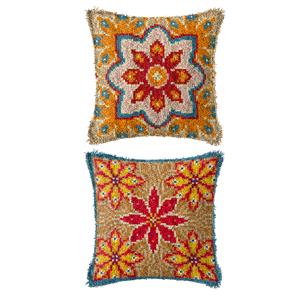 carpet embroidery hook pillow cross stitch Foamiran for crafts do it yourself latch hook rugs carpet embroidery pillow home(China)