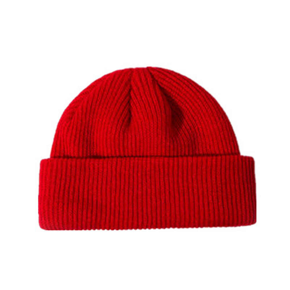 ... Fisherman Beanie Ribbed Hat Winter Warm Turn Up Retro Mens Womens Ladies 1e595251559
