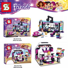 Friends Gril Pop Star Recording Studio Training Room Minifigures SY377 Building Block Minifigure Toys Compatible with Legoe