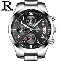 Reloj Hombre Mens Watches Top Brand Luxury ONTHEEDG Men Military Sport Luminous Waterproof Wristwatch Chronograph Quartz
