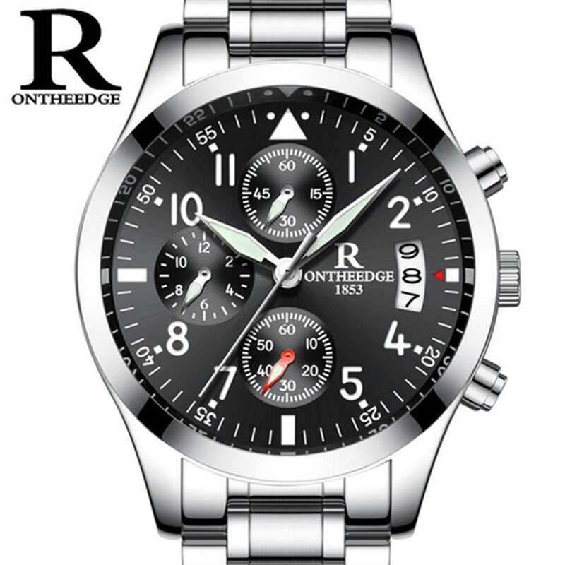 reloj hombre Mens Watches Top Brand Luxury ONTHEEDG Men Military Sport Luminous Waterproof Wristwatch Chronograph Quartz Watch sinobi mens military watches luxury quartz watch men clock silicone strap sport watches male wristwatch waterproof reloj hombre