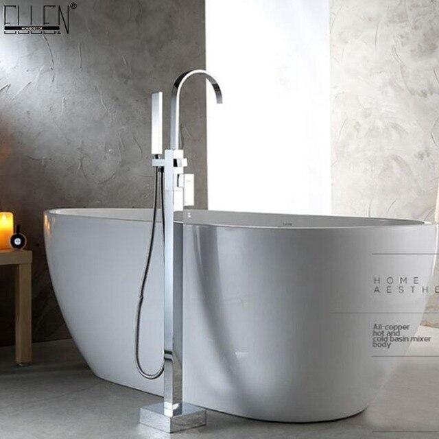Boden Stehen Armaturen Badewanne Wasserhahn Platz Heissen Und Kalten