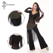 Belly Dance Costume Practice Set Performance Top&Pants&Hip Scarf Indian Dress Lady Belly Dancing Dance Wear Professional