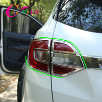 Car Rear Headlight Trim for Everest ABS Chrome Car Headlights Decoration Sticker for Ford Everest 2015 2018 Accessories