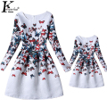 KEAIYOUHUO Girls Dress Mother Daughter Dresses 2017 Spring Dress Family Matching Clothes Mom And Daughter Outfit Family Clothing
