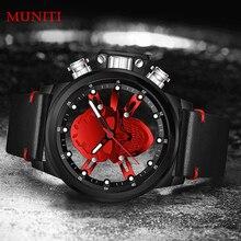 Мужские часы Панк 3D пустой Череп спортивные часы кварцевые MUNITI для мужчин s часы лучший бренд класса люкс водонепроница Relogio спортивные часы с черепом