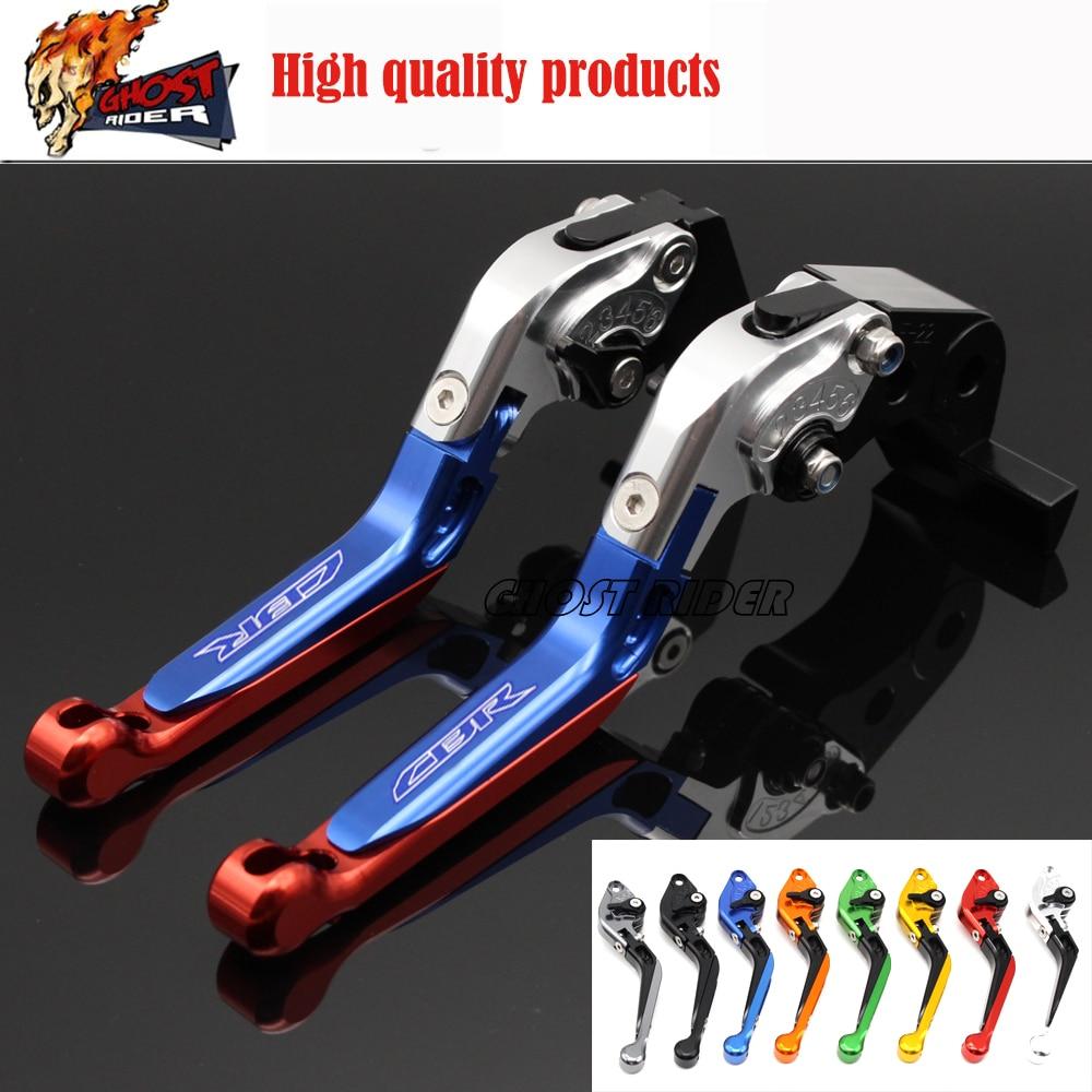 ФОТО For HONDA CBR 600RR CBR600RR 2007-2016 Motorcycle Adjustable Folding Extendable Brake Clutch Levers logo CBR