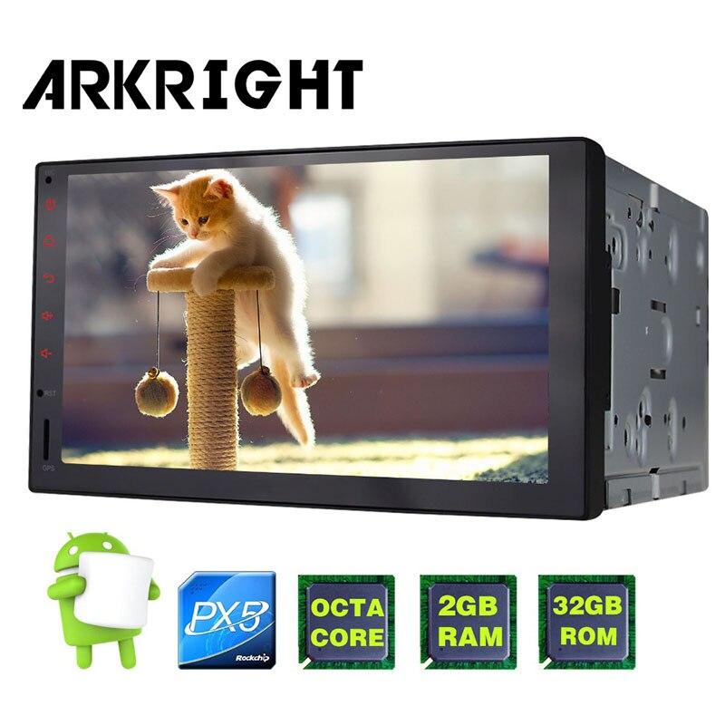 Hot Sale ARKRIGHT 7 PX5 Octa Core Universal Car Radio Audio Stereo HD GPS 2GB+32GB Carplay Wifi Head Unit Multimedia Player