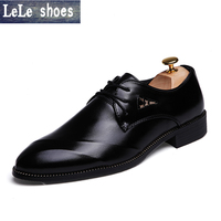 2016 New Fashion Oxford Shoes Mens Dress Shoes Mens Dress Shoes Genuine Leather Hand Made High