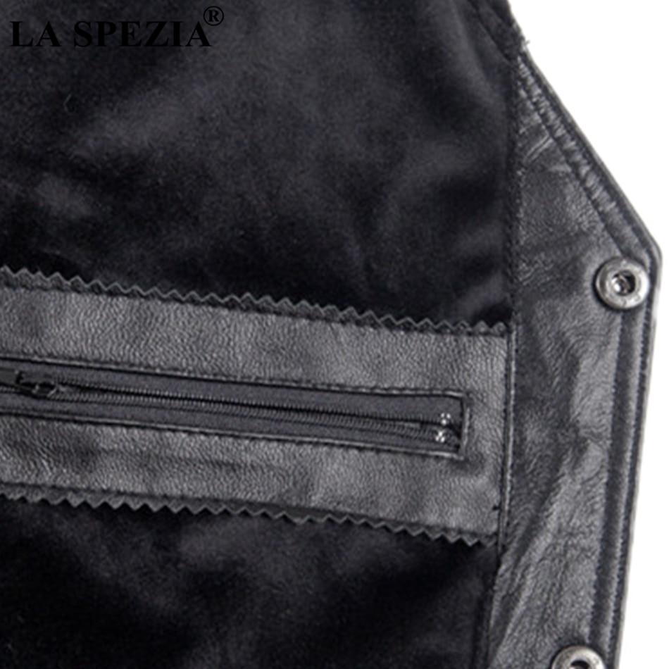 La Spezia Mens Waistcoat Genuine Sheepskin Leather Vest Male Business Luxury Solid Vintage Autumn Plus Size Sleeveless Jackets Men's Clothing Jackets & Coats