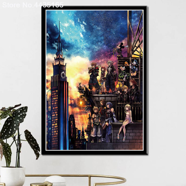 Posters and Prints Kingdom Hearts Game Art Poster wall art Picture Canvas Painting for Modern Living Room Home Decoration