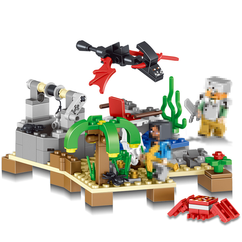 LELE My World Series Shadow Ranch Model Building Blocks Kits Technic Children Toys Compatible LegoINGlys Minecrafter 2in 1 259pcs new my world building blocks sets mine and workers scene blocks compatible legoinglys minecrafter toys for childrens