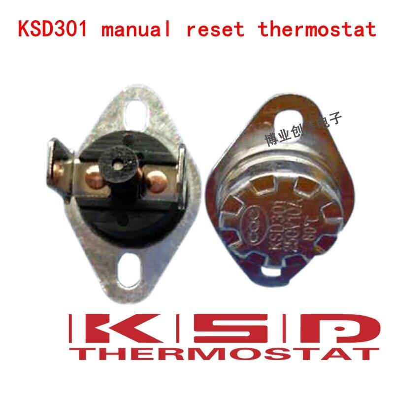 5Pcs NC En Céramique Température Interrupteur Thermostat 210 Degré Celsius KSD301