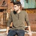Pioneer camp nueva sudadera de manga larga camisa de los hombres 2017 otoño ocasional masculina streetwear camiseta solid marca v-cuello de la camiseta 620002