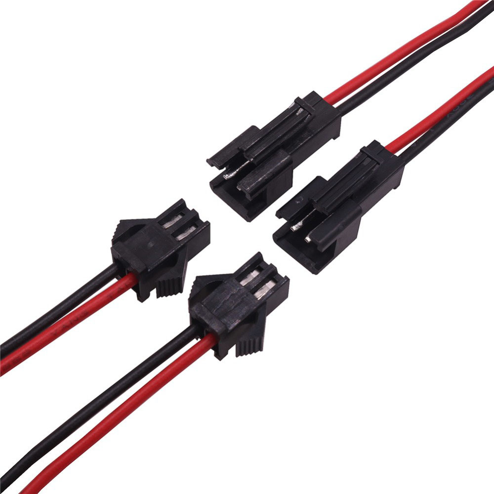50 pcs 10cm Long JST SM 2Pins Plug 25 Male to 25 Female Wire Quick Connector Terminal Block 2 Way Easy Fit for led strip 10pairs jst sm 3 pins head male to female plug wire quick connector for ws2812b rgb led strip
