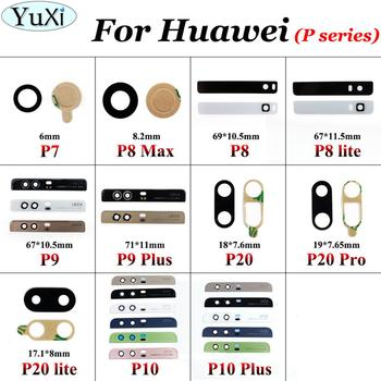YuXi Rear Back Camera glass Lens For Huawei Ascend P20 lite P20 pro P10 P9 Plus P8 max P8 lite P7 With Adhensive Replacement image