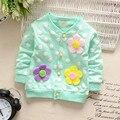 2016 new baby girls clothing clothing coat niños prendas de vestir exteriores de la chaqueta de la primavera y el otoño de impresión