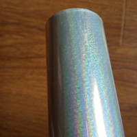 Holographic Foil Transparent Crystal Point Pattern Stamping Foil Hot Press On Paper Or Plastic