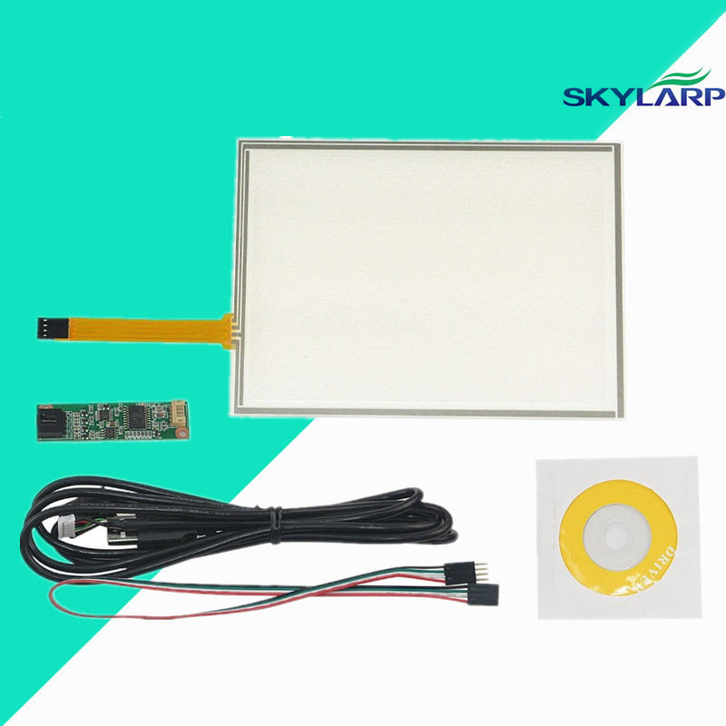 New 8 Inch 4 Wire Resistive Touch Screen Panel USB Controller for AUO A080SN01 LCD Screen touch panel Glass Free shipping new 10 1 inch 4 wire resistive touch screen panel for 10inch b101aw03 235 143mm screen touch panel glass free shipping