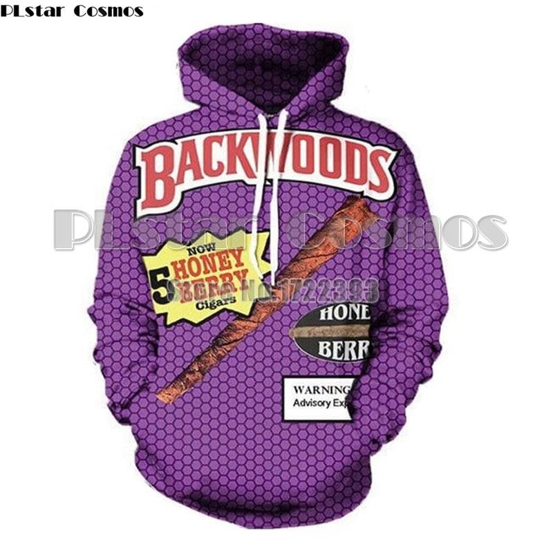 Plstar Cosmos 3d Print Backwoods Honey Berry Blunts Hoodies Women/men Casual Hoodie Funny Foods Streetwear Unisex Pullover Tops Men's Clothing
