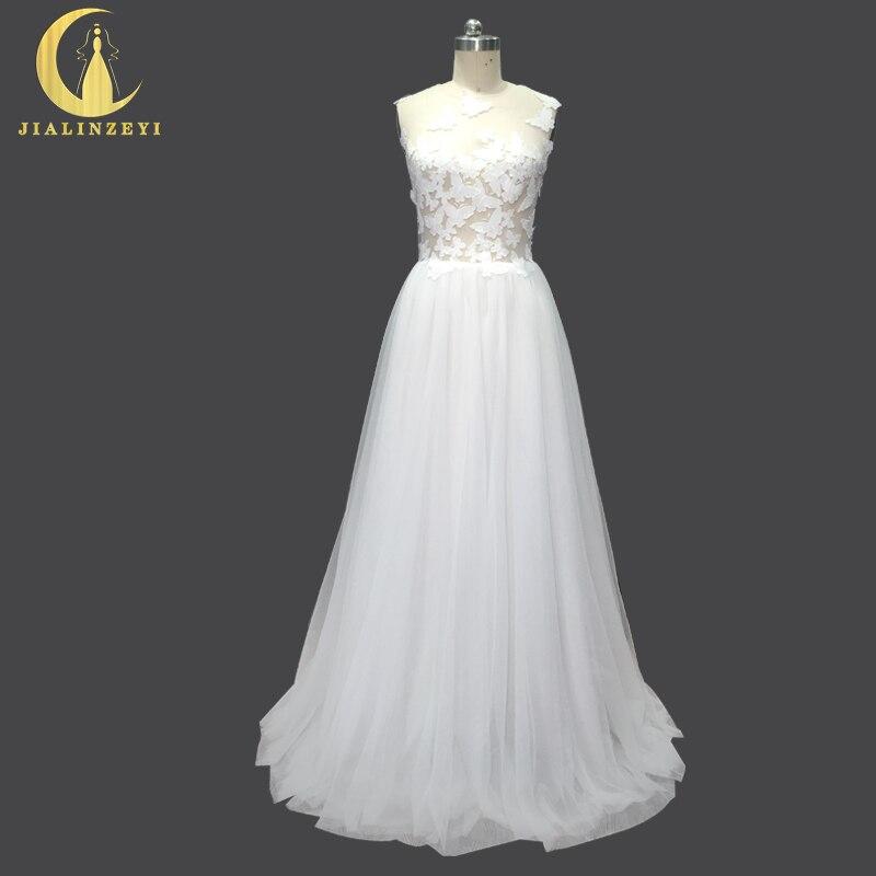 라인 진짜 샘플 러블리 나비 섹시한 Tulle 저렴한 층 길이 Elegent Bridal Wedding Dresses 웨딩 드레스