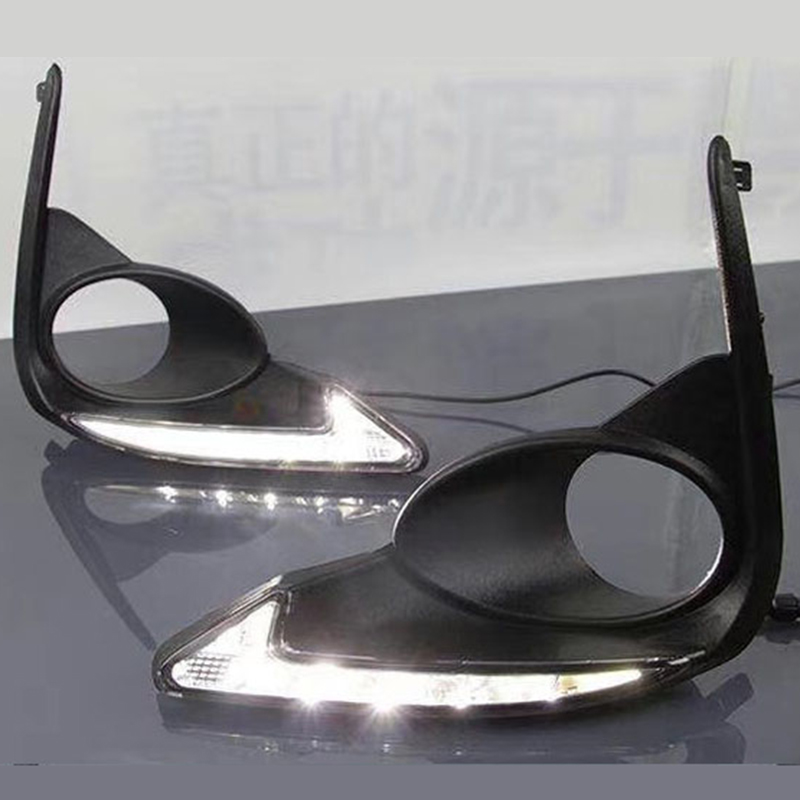 Day LED Daytime running light fog lamp daylight drl with turn light function for Toyota corolla 2016 2017 new tcart for toyota rav4 2016 2017 drl daytime running light with turn signal light function headlight fog lights led car day light