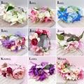 Bride Headdress Women Flower Wreath Wedding Bridesmaids Floral Garland Baby Kids Party Hair Accessories Studio Photos flowers