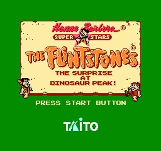 Flintstones 2 -The Surprise at Dinosaur Peak 72pins 8bit Game card Drop shipping!