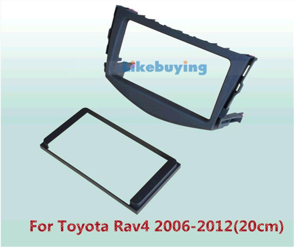 2 Din Voiture Cadre Dash Kit/Voiture Revêtement/Support de Montage de Panneau Pour Toyota RAV4 2006 2007 2008 2009 2010 2011 2012 20 cm