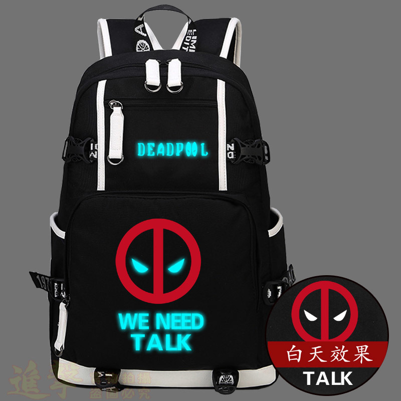 cb543217a914 2017 Marvel Deadpool Shoulders Backpack Fashion Leisure Men And Women  Travel Laptop Bags Student School Bags